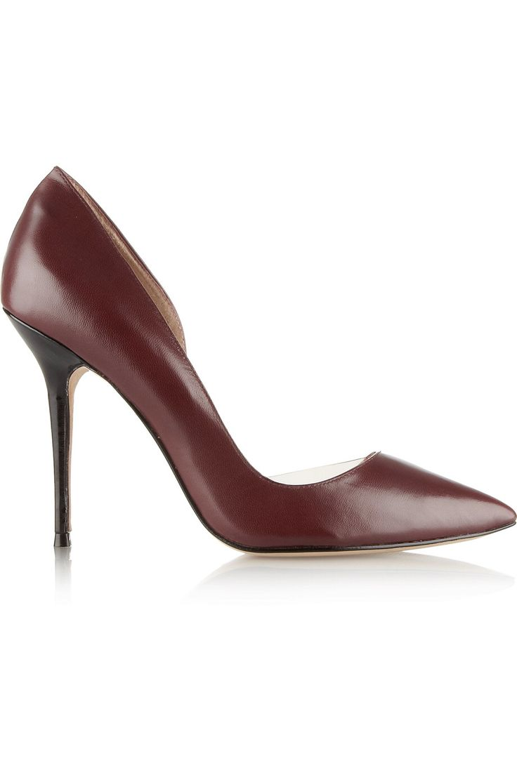 LUCY CHOI LONDON SOHO PVC-TRIMMED LEATHER PUMPS GBP106.25 http://www.theoutnet.com/product/837500