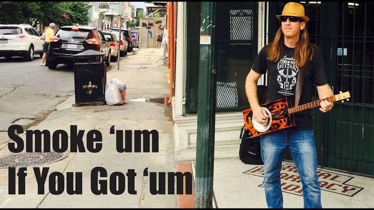 Smoke 'um If You Got 'um - Southern Cigar Box Guitar Thunder by Mike Snowden #neworleans #snowdenguitars  #blues #slide #handmade #cbg #cigarboxguitar