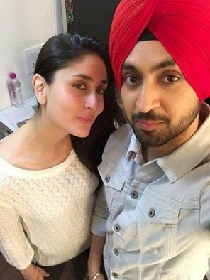 selfie lovers: Kareena Kapoor and Diljit Dosanjh Selfie
