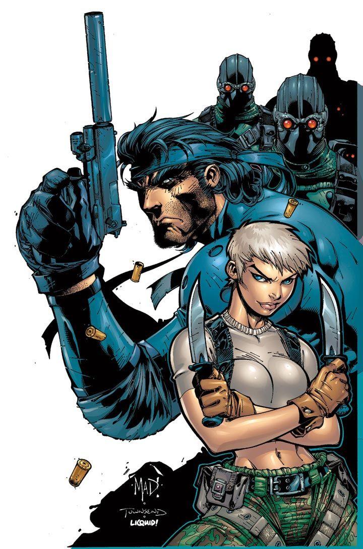 Metal Gear Solid art by Joe Madureira, Tim Townsend and Liquid!