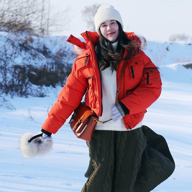 86.61$  Watch here - http://alij28.worldwells.pw/go.php?t=32779225444 - MAIXU original warm new winter wheat bread jacket female raccoon hair short thick loose coat