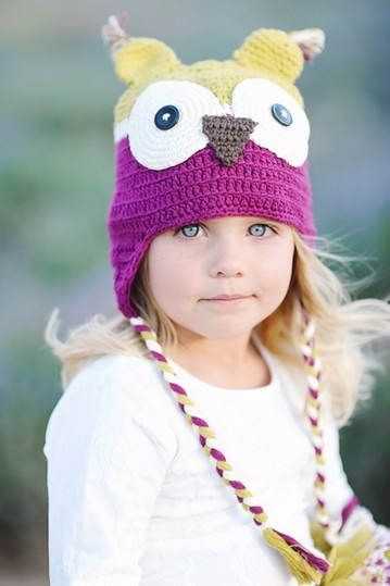 Taylor Joelle Designs Piccadilly Plum Owl Hat