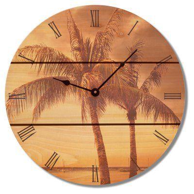 Gizaun Art Vintage Tropic Outdoor Wall Clock - VTC16