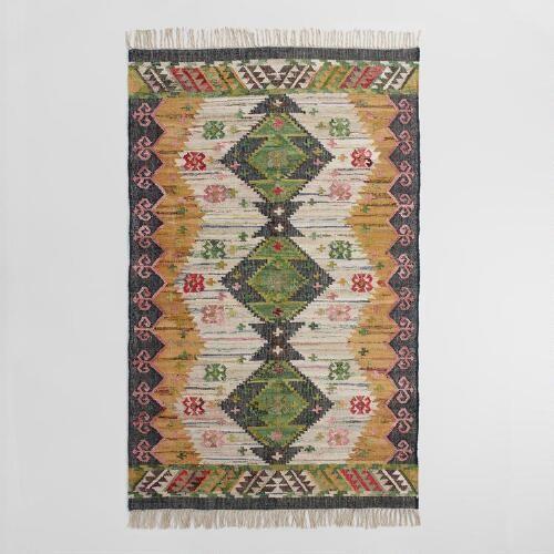 5ftx8ft Boho Woven Cotton Kilim Alina Area Rug