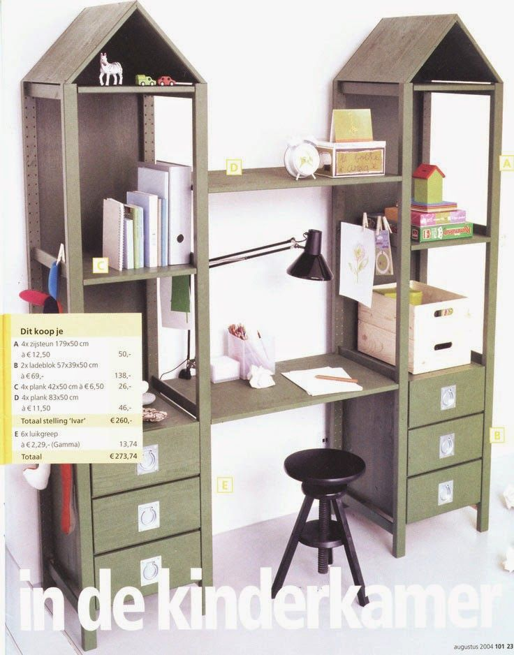 mommo design: IKEA HACKS FOR KIDS - Ivar house desk