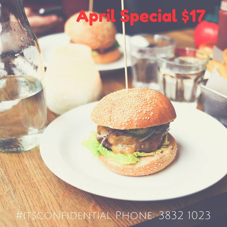 April Special - available tonight from 6pm.