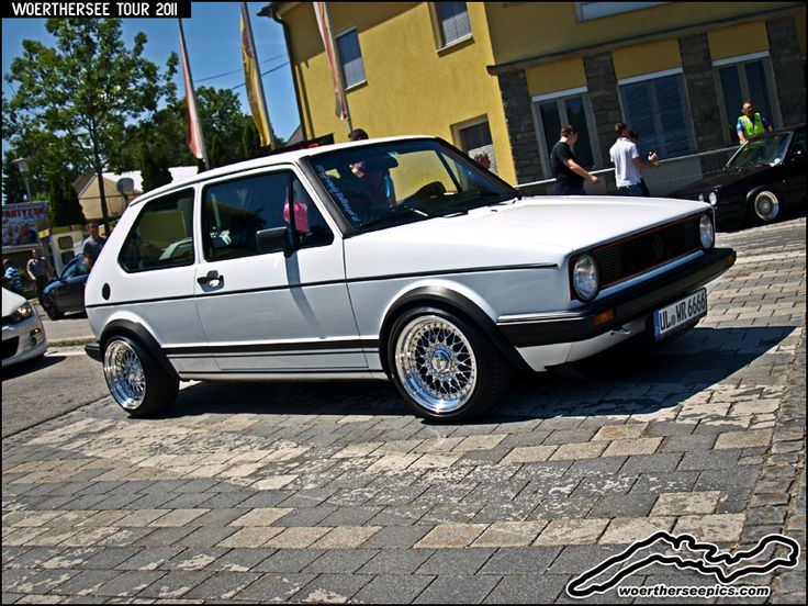 White Vw Golf Mk1 Gti On Bbs Wheels Voitures
