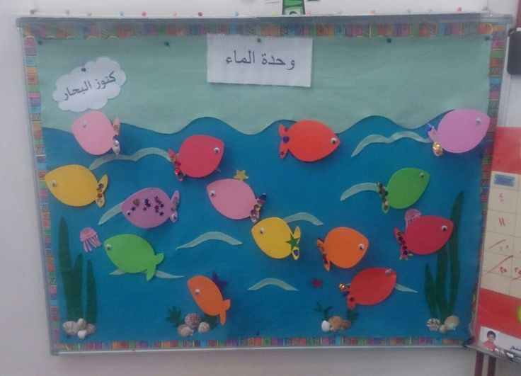 Classroom Theme Ideas ~ لوحة اعلان quot صديقتي سارا ، وحدة الماء دار الرواد