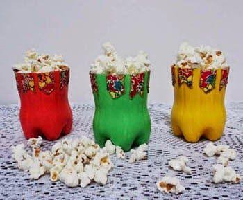A DOCE ARTE DA LIDIA: Artesanato para festa junina com garrafa pet - Reciclagem
