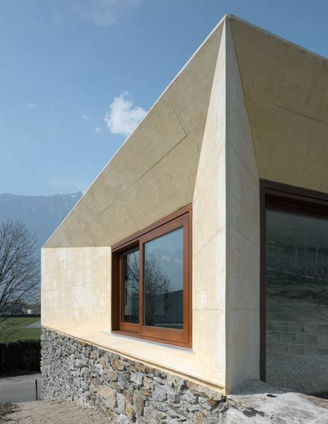 ::ARCHITECTURE:: Addition to a stone house in the Swiss ALps by Geneva studio clavienrossier