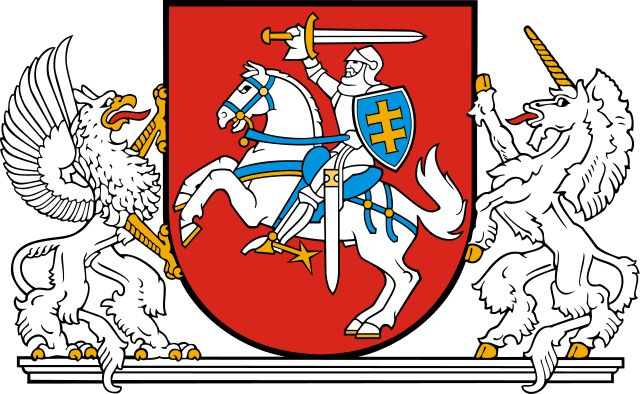 Brasão do presidente da Lituania. Coat of arms of the President of Lithuania.