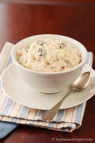 Stovetop Rice Pudding- No oven required!