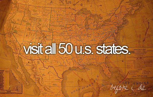 Bucket List: Bucketlist, Buckets Lists, 50 States, Visit, Roads Trips, Places, The, U.S. States, Bucket Lists
