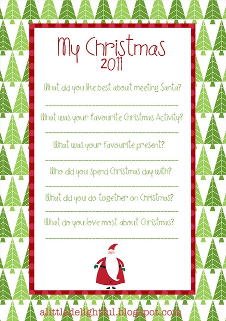 A Few Questions To Ask Your Kids Each Christmas Remember The Highlights From Their Perspective Pinterest Printables