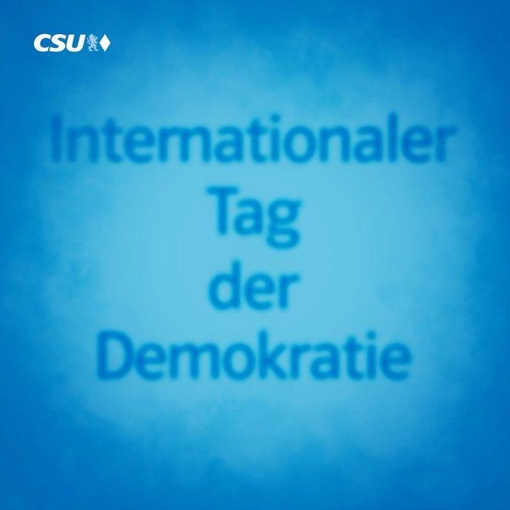Heute ist Tag der Demokratie - am 24. September habt ihr die Wahl.  Mit der Erststimme könnt ihr euren regionalen CSU-Kandidaten wählen – und die Zweitstimme ist Bayernstimme! #demokratie #btw17