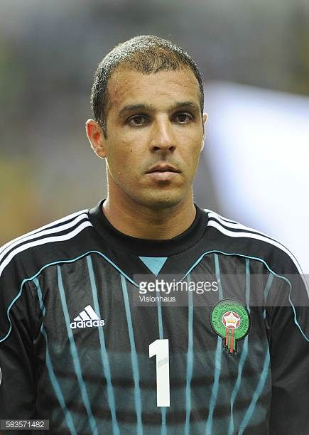 Nadir Lamyaghri of Morocco during the 2012 African Cup of Nations Group C match between Morocco and Tunisa at the Stade de l'Amitie in Libreville...