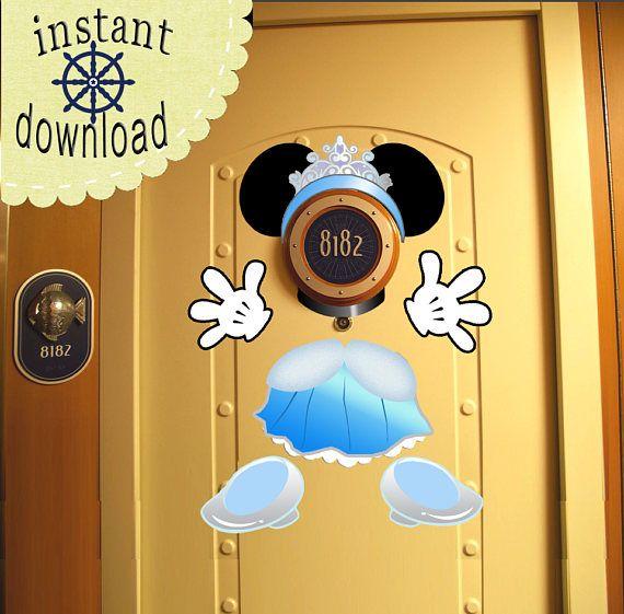 Cinderella Princess Disney Cruise Door Magnet DOWNLOAD NOW - Use as Disney Cruise Door Decorations and Clip Art