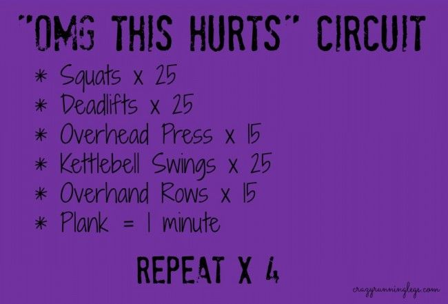 omg this hurts <--one of my favorite workouts! Only takes about 30 minutes