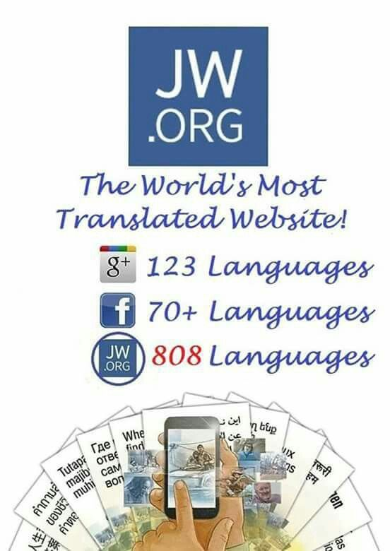 Last count 817 Languages! ༺♥༻ READ GOD'S WORD THE HOLY BIBLE DAILY JW.ORG has the Bible and bible based study aids to read, watch, listen and download in 800+ (+ASL) languages. These aids are designed to be used with your bible. TV.JW.ORG - Online TV for your computer, phone, or tablet. Available 24/7. Browse the library of movies, and videos. Watch anywhere, anytime. Listen to music, drama productions, and Bible readings. They also offer free in home bible studies. All of at no charge.༺♥༻