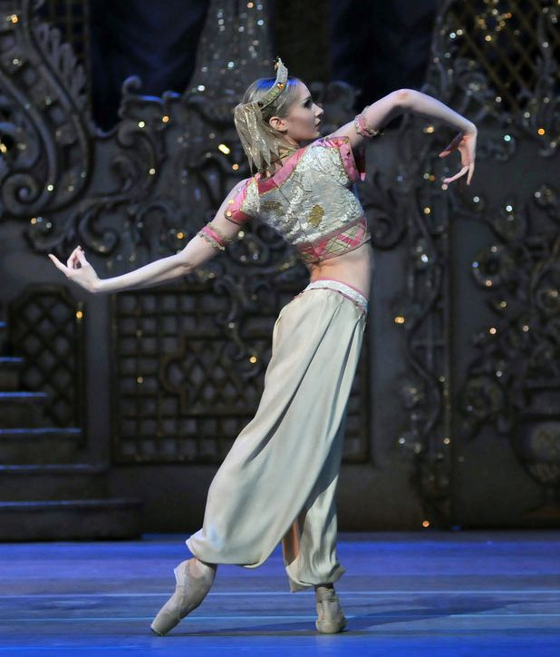 "The Royal Ballet's Melissa Hamilton in the Arabian dance from ""The Nutcracker,"" photo by Dave Morgan"
