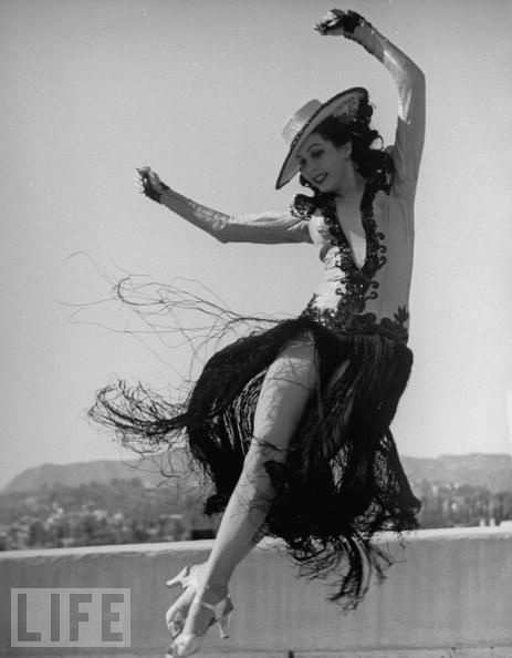Ann Miller (tap dancer & actress - 1923-2004) began dancing as a child to help strengthen her legs which were weak because of rickets.  She began working professionally at age 13 (she told her employers that she was 19). She is credited with helping to popularize pantyhose, which were created at her request by the costumers of her dance production numbers.