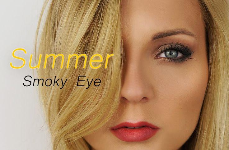 Letni makijaż Smoky Eye.