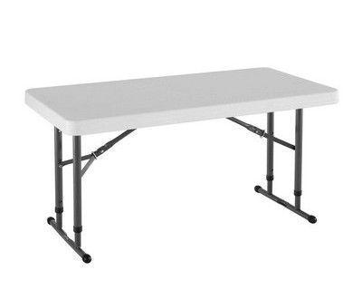 lifetime 4foot adjustable height folding table reviews sales discount and cheap price