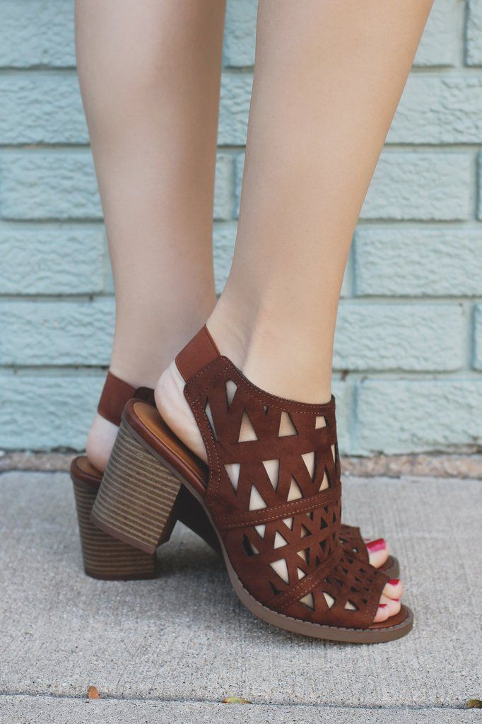 Geometric Cut Out Open Toe Block Wooden Heels Fashion-S – UOIOnline.com: Women's Clothing Boutique