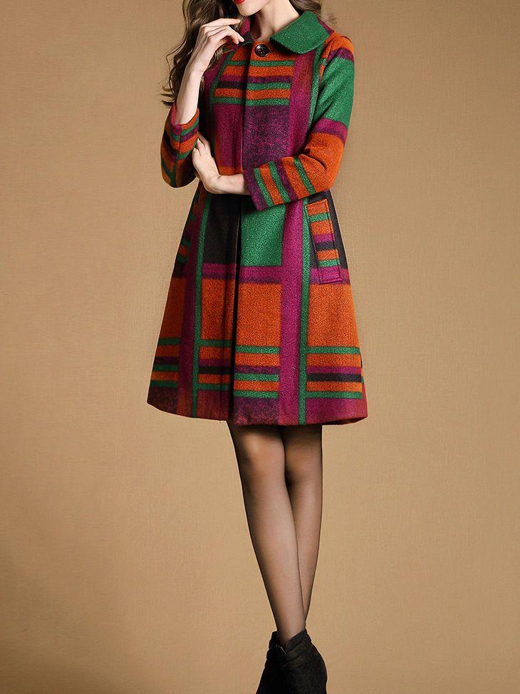AZIMAO Printed/Dyed Wool Coat
