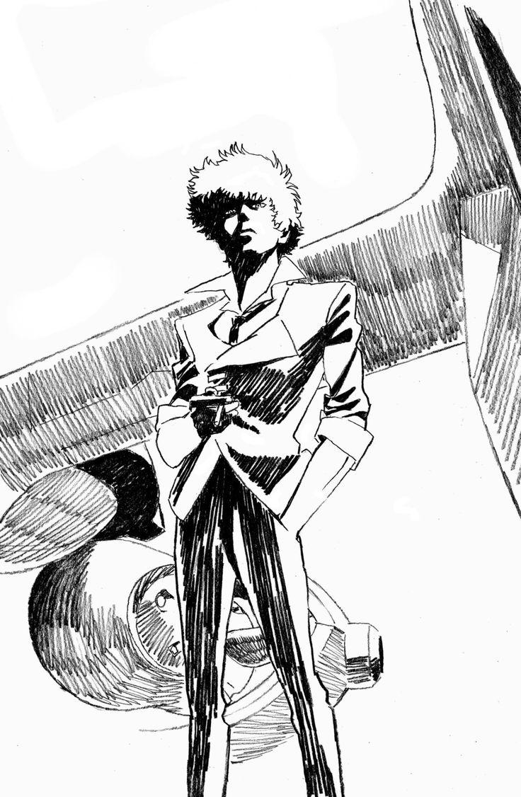 "as-warm-as-choco: "" 深夜のスパイクさん / ""Midnight Spike"" by Cowboy Bebop animator Yutaka Nakamura (中村豊) """