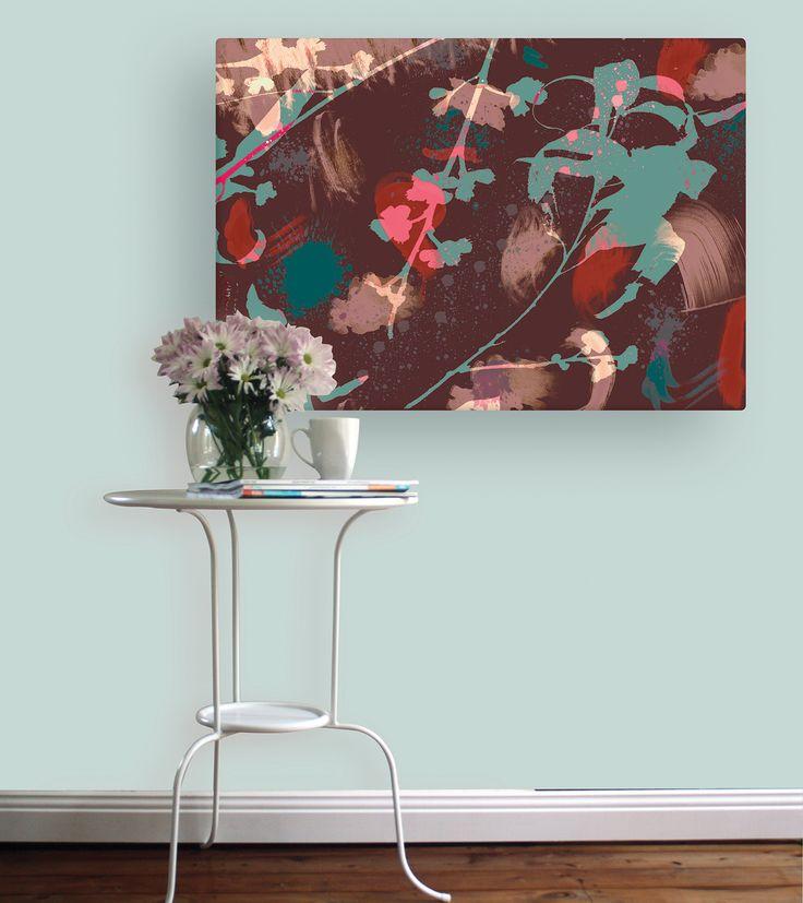Gum Tree canvasfeatures Pantone's colour of theyear for 2015, Marsala. Australian wall art canvas | Wallstudio