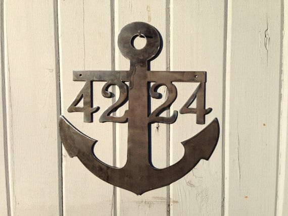 Anchor House Numbers Beach themed Ocean by GlamorousFindings