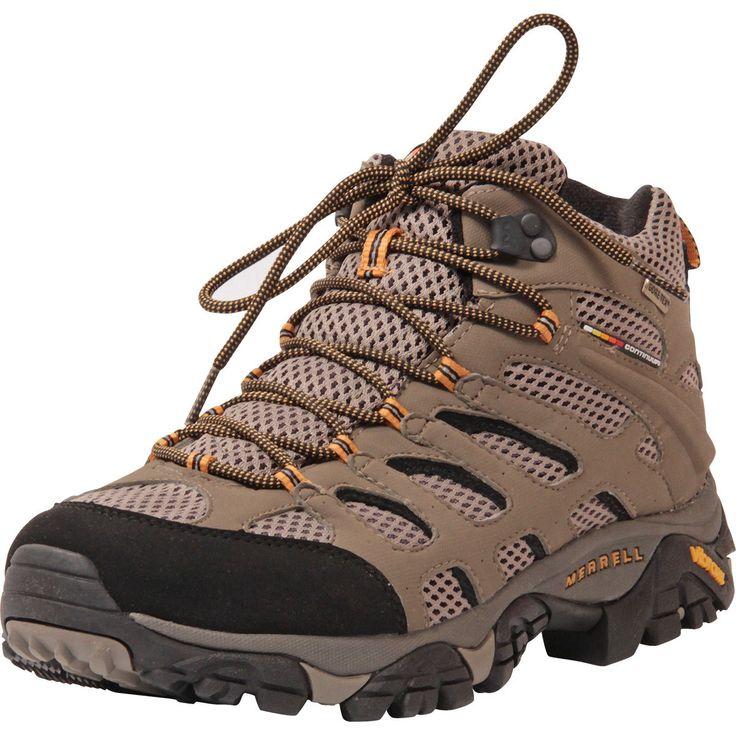 Merrell - Men's Moab Mid Gore - Tex Hiking Boots - Dark Tan
