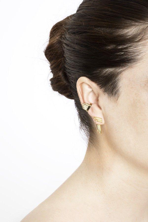 Maria Black Ohrring Siren Reverse High Polished Gold. www.styleserver.de02
