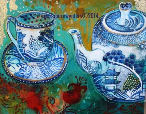 Afternoon Tea, painting by artist Maria Pace-Wynters