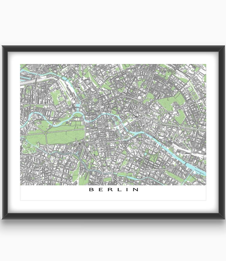 Berlin Map Berlin Art Print Berlin Germany