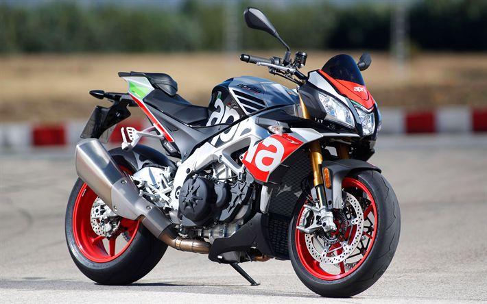 Download wallpapers Aprilia Tuono 1100 RR, 4k, 2017 bikes, sportbikes, italian motorcycles, Aprilia