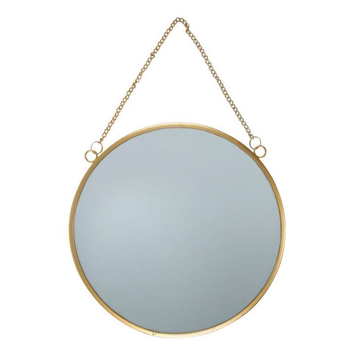 Gold Round Mirror Large
