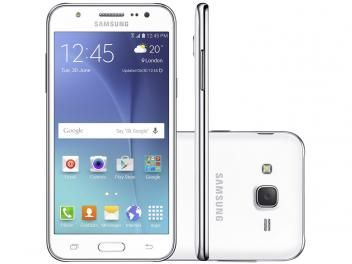 Smartphone Samsung Galaxy J5 Duos 16GB Branco - Dual Chip 4G Câm. 13MP + Selfie 5MP com Flash sem cartão