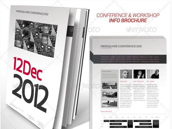 17 best Elegant Conference Brochure Template PSDEPSAiIndesign – Conference Brochure Template