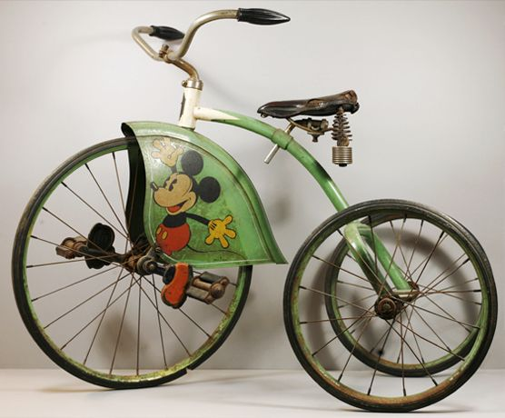 MICKEY MOUSE TRICYCLE Some of the earliest Mickey Mouse merchandising included this tricycle from 1934.