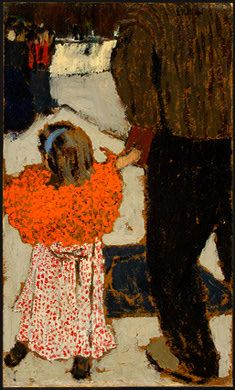 He must have held my hand once...I desperately wish I could remember. (Child Wearing a Red Scarf, c.1891 by Édouard Vuillard)