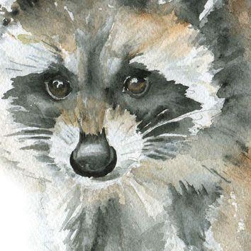 ... Watercolor Painting Print Giclee - 11 x 14 - Nursery Art - Baby Animal