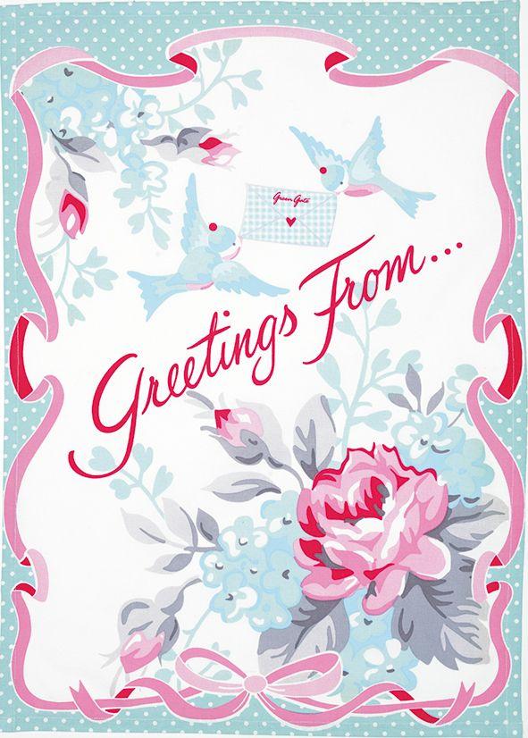 Christmas Greeting Tea Towel
