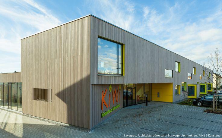 Objekt: Kindergarten   vorvergraute Holzfassade   Produkt: Dura Patina…