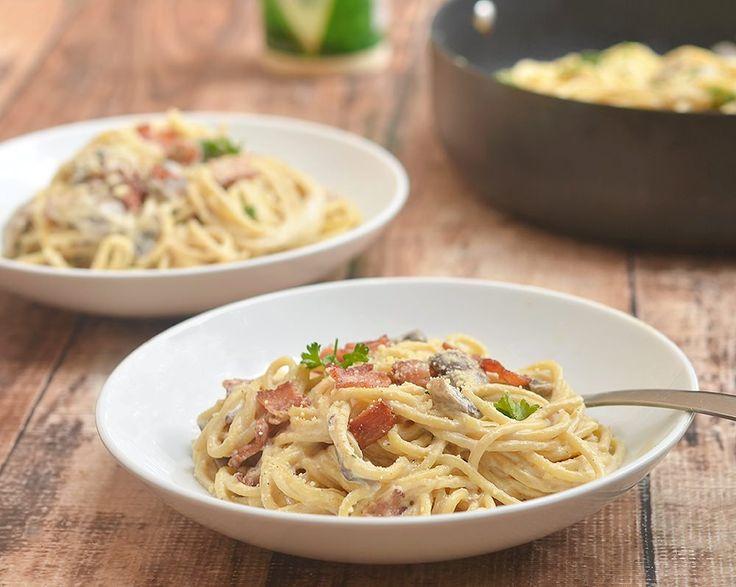 Filipino-style Pasta Carbonara via @lalainespins