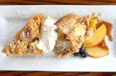 Big Sky Buttered Peach Bread Pudding