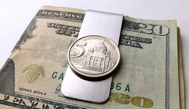 Yugoslavian, Money clip, Men's accessory, Guy's gifts, Money, Men's gifts, Coins, Coin money clip, Men's wallet, Parliament, Clips, 2002 by CoinStories on Etsy