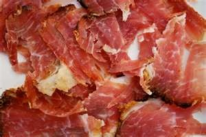"#portuguese ""Presunto"" (smoked ham)   #Marvao #Alentejo #Portugal"