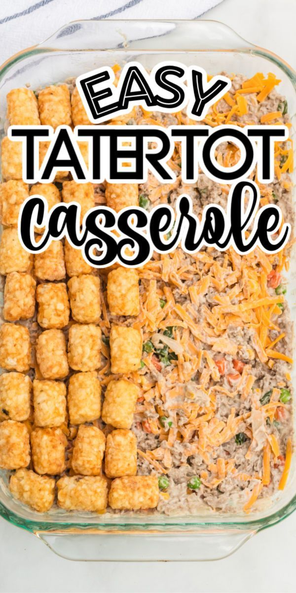 Tater Tot Casserole In 2020 Beef Recipes Easy Quick Beef Recipes Easy Tater Tot Casserole